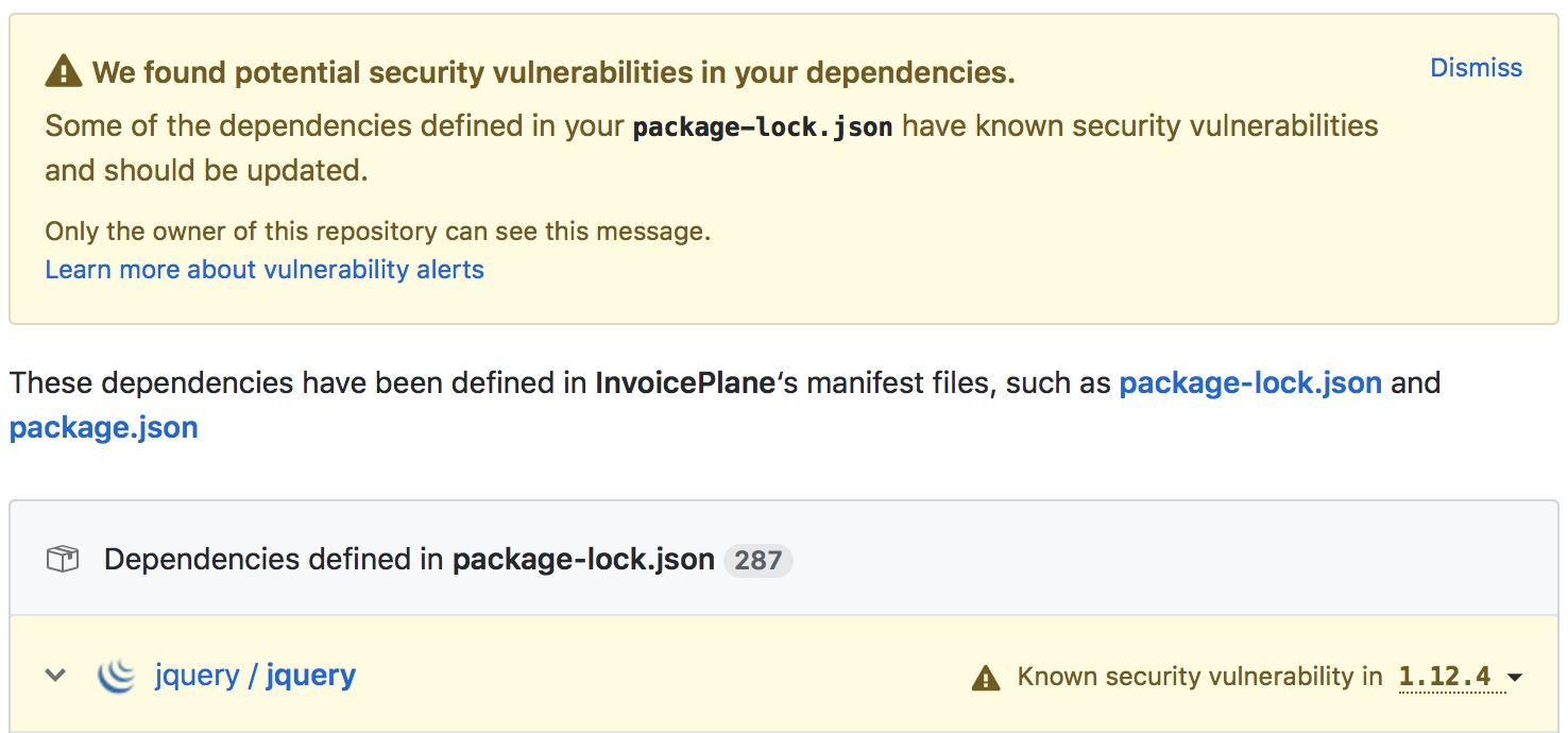 Security vulnerabilities alert from GitHub - Development